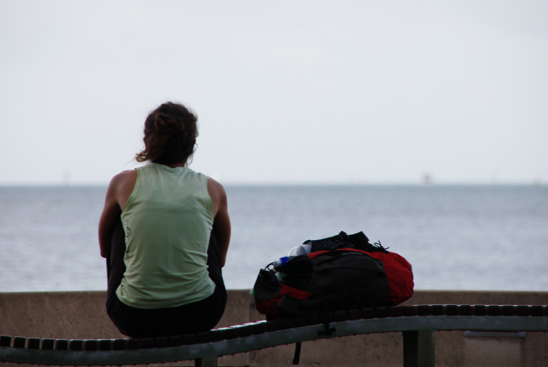 Cairns, Australia. A tranquil moment for a backpacker in Cairns.